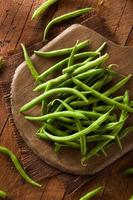 Raw Organic Green Beans photo