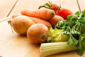 verduras para caldo de verduras foto