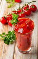 Bloody Mary Alcoholic Drink with fresh  tomatoes