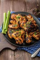 Barbecue grilled chicken wing photo