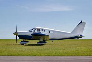 Light aircraft take off photo
