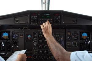 pilotos en vuelo foto