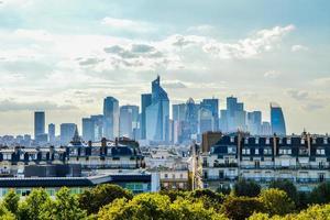 Modern Paris landscape