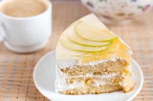 Fruit cake with pineapple and apple photo