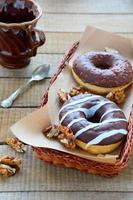 chocolate donuts with nuts