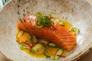 Salmon filet photo