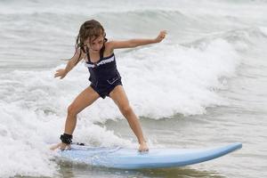 Luna surfing.