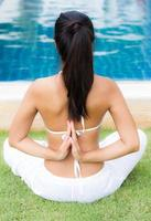 sesión de yoga foto