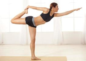 Yoga at home photo