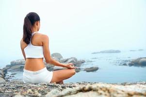 mujer de estilo de vida de yoga
