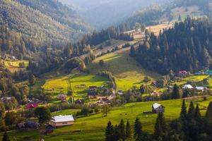 Beautiful mountains landscape in Carpathian photo