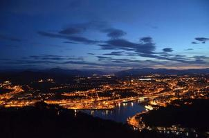 Night landscape in Irun, Spain photo