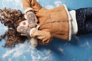 Winter portrait photo