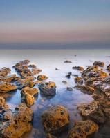 Beautiful winter seascape photo
