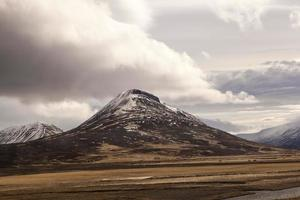 Impressive volcano mountain landscape in Iceland photo