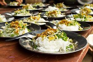 Noodles on  plate, place a row photo