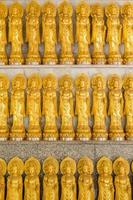 Rows of Guanyin Chinese goddess statues in Thailand