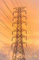 Bright light electricity tower background.