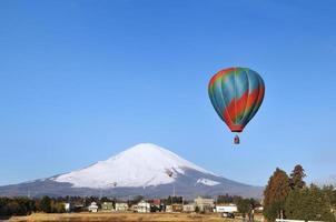 Fuji and hot-air balloon