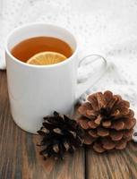 xícara de chá de inverno