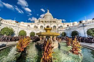 Edificio de la capital de Estados Unidos desde el lado oeste closeup foto