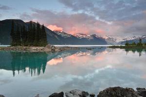 Garibaldi Lake Sunset photo