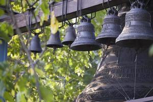 Bells of Holy Trinity Jonah Monastery in Kiev. photo