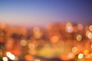 City lights bokeh photo