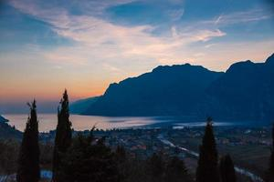 Garda lake sunset