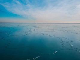 Frozen Blue Lake photo