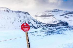 señal de peligro de avalancha