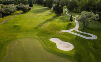 campo de golf aéreo