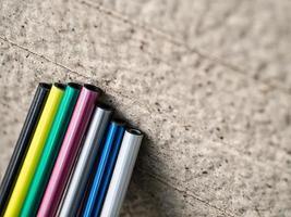 Colorful golf shaft photo