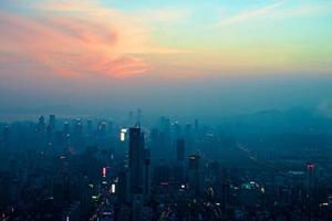 evening view of Futian district Shenzhen city China photo