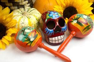 Dia De Los Muertos Skull & Offering photo