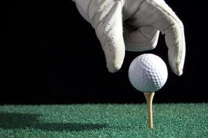 gota de pelota de golf foto