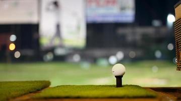 Golf driving range photo