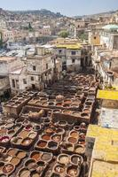view of old medina in Fes photo