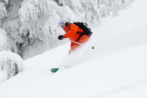 esquí en polvo foto