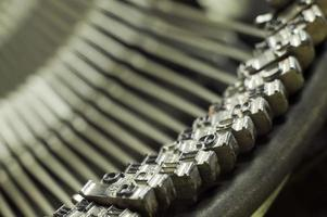 mecanismo de máquina de escribir tipo foto