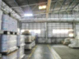 Products chemical in warehouse blur image.