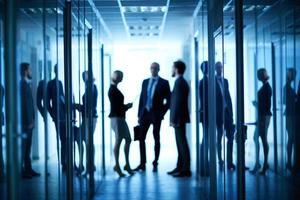 puertas de oficina en pasillo foto