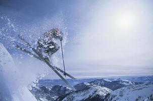 Person On Skis Jumping Over Slope