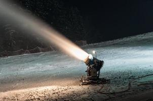 Working snow cannon photo
