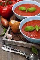 sopa de tomate tradicional foto