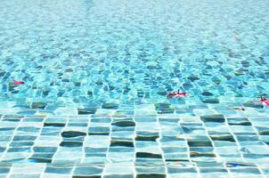 Water in blue swimming pool