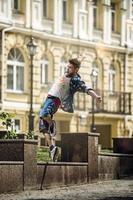 Street dancer in sunny day