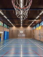 Basketball gym interior at school