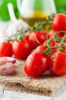 Fresh cherry tomatoes photo