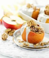 Baked apples photo
